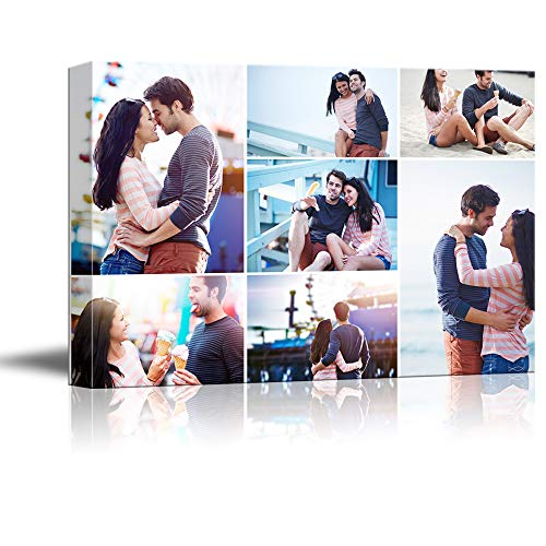- NWT Custom Canvas Prints with Your Photos Collage Idea, Personalized Canvas Pictures for Wall to Print Framed 11x14 inches