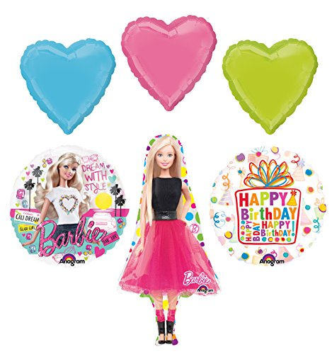 Barbie Birthday Party Supplies and Dream With Style Balloon Bouquet Decorations]()