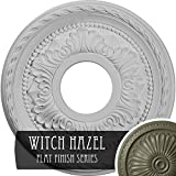 Ekena Millwork CM11PMWHF 11-3/8'' x 3-5/8'' x 7/8'' Palmetto Ceiling Medallion, Witch Hazel
