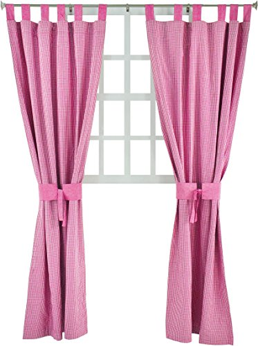 Tadpoles Double Sided Tab Top Single Curtain Panel, 84