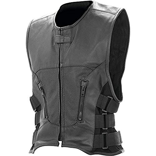- Mens Rocky Mountain Hides Solid Genuine Buffalo Leather Vest
