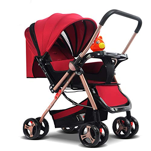 Stroller Bag for Air Travel Silver Cross, from Birth to 15 Kg Easy and Compact Folding Sport Stroller One Step Design for Opening and Folding Sport Pushchair, red (Silver Cross 3 In 1 Travel System)