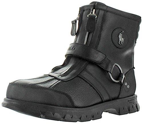 Ralph Lauren Conquest III Men's Leather Duck Boot Black S...