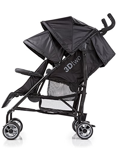 Summer Infant 3Dtwo Double Convenience Stroller, Gray Squared by Summer Infant (Image #1)
