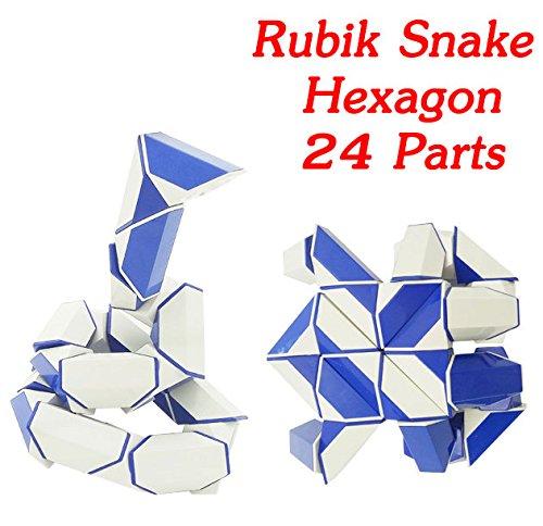 Rubik Snake Twist Hexagon 24 Wedges (Parts) each Part Size 1.8