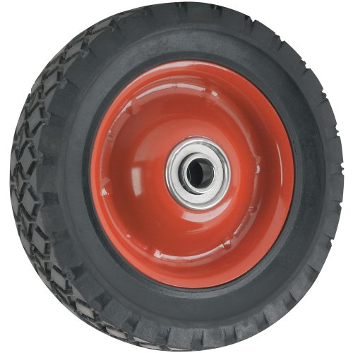 Replacement Wheel with Symmetrical Steel Hub - 6-Inchx 1.5-Inch - 50 lb. Load Capacity - For use on Wagons, Carts, & Many Other Products ()