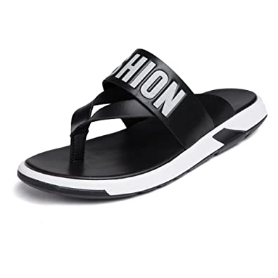 c003c2cf66b JCH Thong Flip Flops Shoes,Casual Comfortable Beach Genuine Leather  Slippers Non-Slip Soft