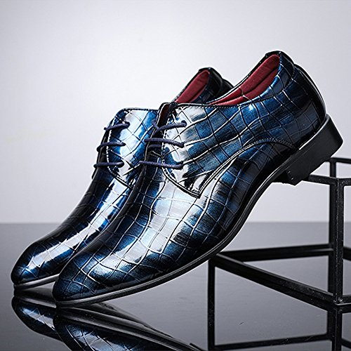 Fang Oxford Primavera PU Low pelle Lace Top Blu foderato EU Business da traspirante 2018 shoes Estate Pelle superiore Oxford in Dimensione uomo Scarpe Texture Color 39 Blu serpente up di rEzgqrWR8