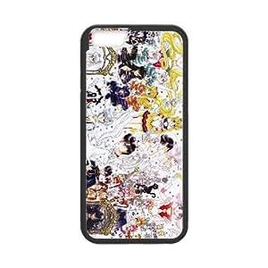 Sailor Moon MANGA funda iPhone 6s de 4.7 pufunda LGadas del teléfono celular Funda cubierta de color negro, funda de plástico caja del teléfono celular
