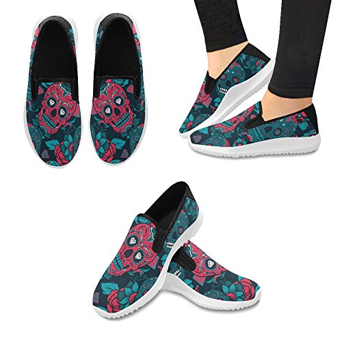 Mocassino Slip-on Donna Interestprint Sneakers Moda Multi Canvas 2