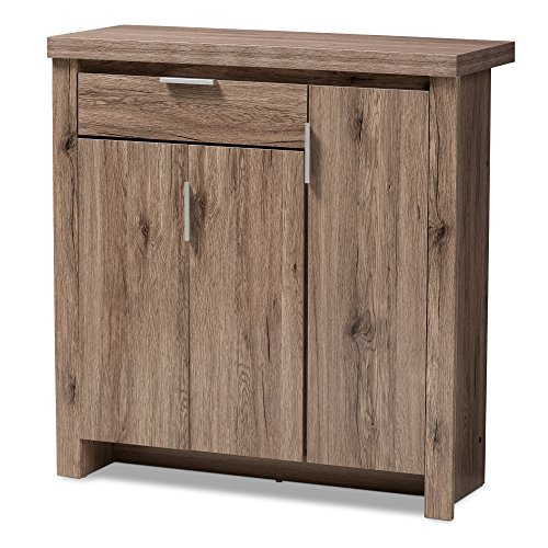 Baxton Studio Shoe Cabinet in Oak Brown