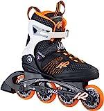K2 Skate Women's Alexis 80 Inline Skates, Black/Tangerine, 6