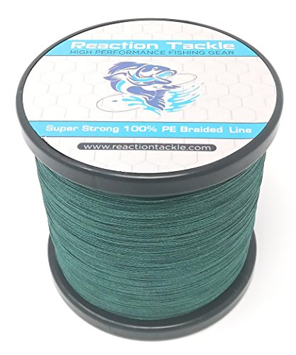 Reaction Tackle Moss Green 30LB 1000yd