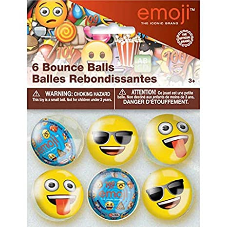 Amazon EMOJI BOUNCE BALLS 6 Birthday Party Supplies Favors