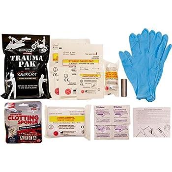 Adventure Medical Kits Professional Trauma Pak Kit with QuikClot Hemostatic Clotting Sponge to Stop Bleeding Fast