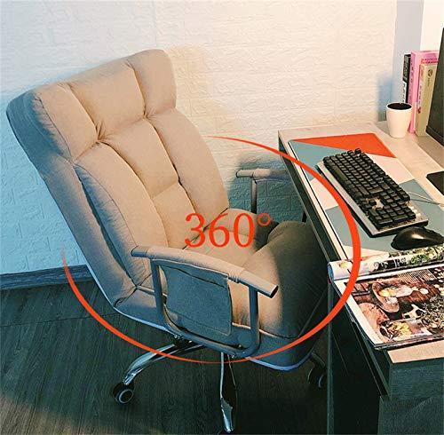 LYJBD Skrivbordsstolar med hjul kontor dator skrivbord stol hem kontor hög rygg ergonomiskt ryggstöd verkställande säte för vuxna och barn
