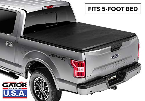 Gator ETX Soft Tri-Fold Truck Bed Tonneau Cover | 59501 | fits Nissan Frontier 2005-19 (5 ft bed) w/ factory side bed rail caps only