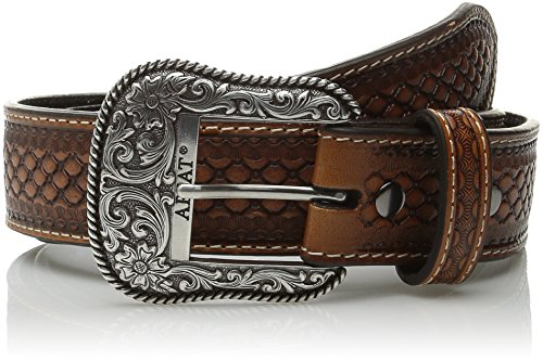 Ariat Men's Basket Concho Ribbon Inlay, Natural, 36 (Ribbon Concho)