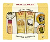 Search : Burt's Bees Tips and Toes Kit Gift Set, 6 Travel Size Products in Gift Box - 2 Hand Creams, Foot Cream, Cuticle Cream, Hand Salve and Lip Balm