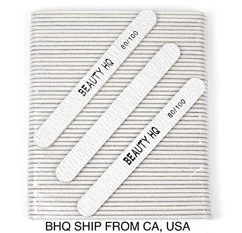 Professional Nail Files Grit 80/100, Coarse & Medium Zebra R