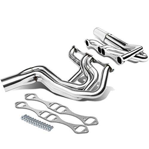 DNA Motoring HDS-SBC-GENI Stainless Steel Exhaust Header Manifold ()