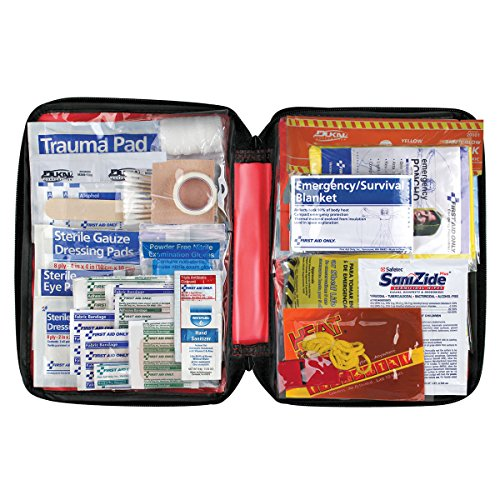 First Aid Only American Red Cross Emergency Preparedness with First Aid Kit, Soft Case]()