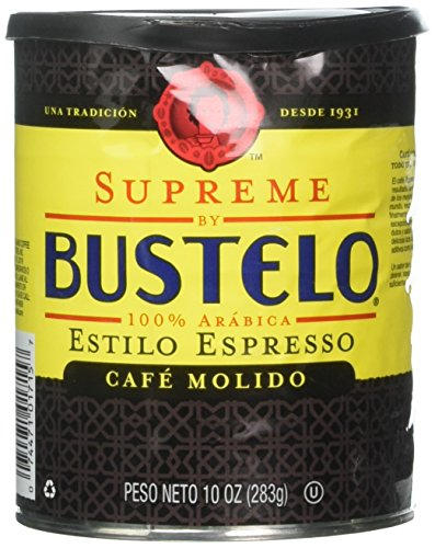 Supreme By Cafe Bustelo, Espresso Style Coffee, Can, 10 Ounce (Pack of 2)