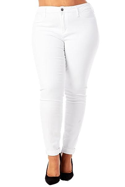 Amazon.com: Womens Ladies Plus tamaños Curvy Basic Skinny ...