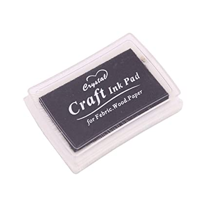 Jungen sellos Craft Ink Pad para Papel Tela Madera (Negro ...