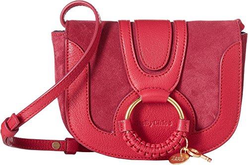 See by Chloe Women's Mini Hana Bag Berry Pink One Size - Chloe Red Leather Handbag