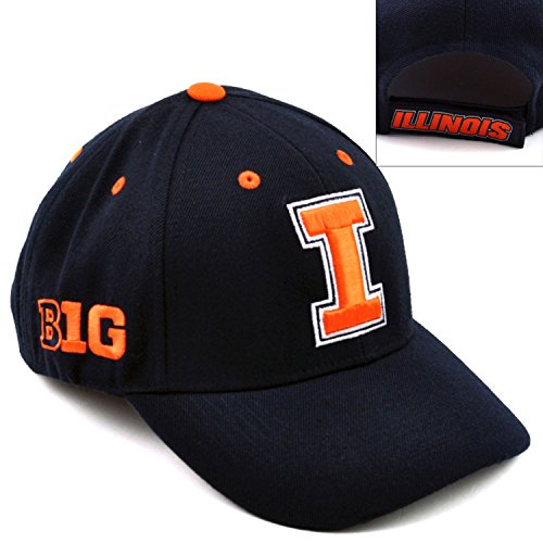 NCAA Top of the World Illinois Fighting Illini Triple Conference Hat - Navy Blue