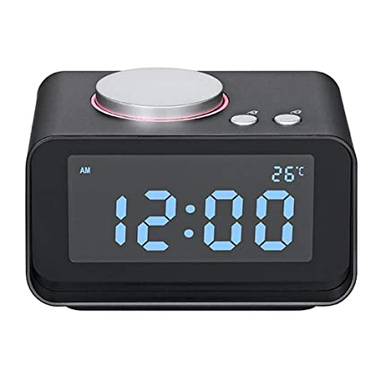 QZTG Despertador Digital Reloj Despertador Digital Radio FM Reloj Despertador Ruidoso para Almohadas Resistentes con Doble