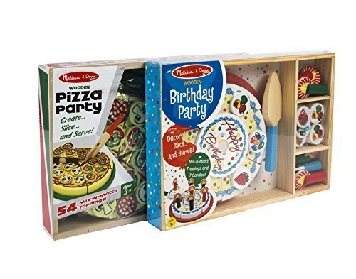 Melissa & Doug Birthday Cake and Pizza Party Set [並行輸入品]   B075CR6PPL