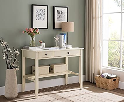 Sutton Antique White Writing Desk with Charging Station - Amazon.com : Sutton Antique White Writing Desk With Charging Station