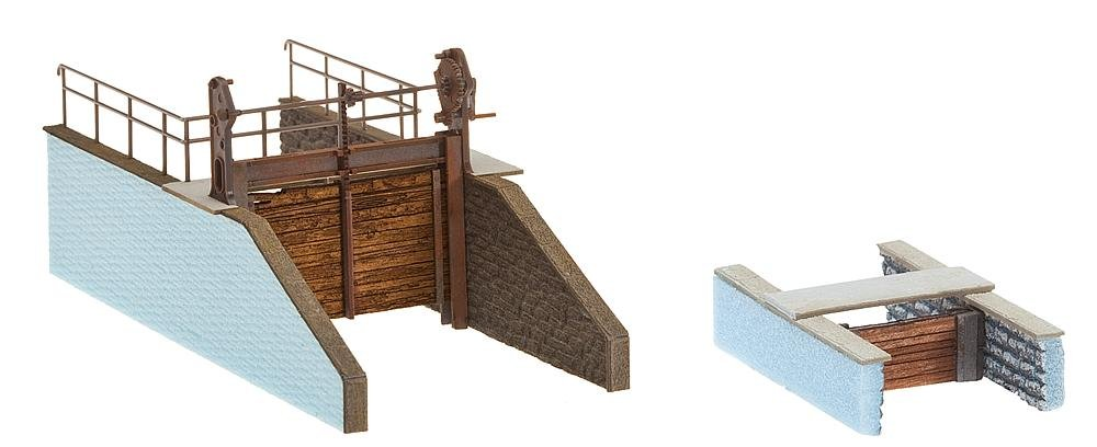 Faller 180390 Dams f//Stream Hnd-Crnk 2//Scenery and Accessories
