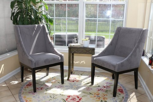 Classic Edition SET OF 2 Modern GREY Arm Slipper Dining Sofa Chair Accent Living Room Furniture