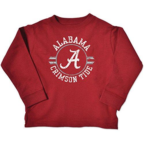 NCAA Alabama Crimson Tide Toddler Long Sleeve Tee, 2 Toddler, Cardinal ()