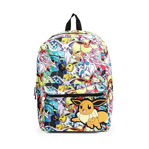Pokemon Eevee Evolution All Over Print Backpack School Bag -