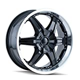 DIP Wicked D39 Black Wheel with Machined Lip (20x8.5''/10x139.7mm)