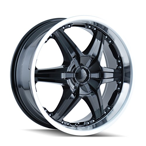"""DIP Wicked D39 Black Wheel with Machined Lip (22x9.5""""/10x..."""