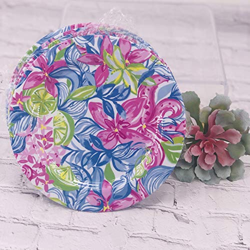 Lilly Pulitzer - Set of 4 Plastic 9'' Picnic Plates - Havana Cocktail by Lilly Pulitzer