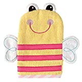 Luvable Friends Wash Mitt, Yellow Bee