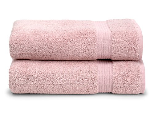 TowelSelections Blossom Collection Soft Towels 100% Turkish Cotton Blushing Pink 2 Bath Towels