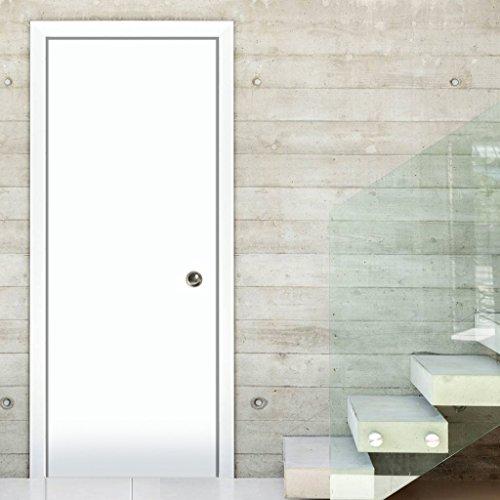 "Planum 0010 Pocket Sliding Closet Door White Silk (32"" x 80"")"