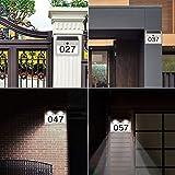 ASENEK Solar Address Light, Super Bright Waterproof Solar Address Sign Apartment Doorplate Number Light Stainless Steel Doorplate Lamp