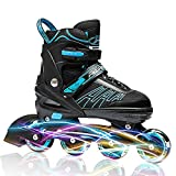 ITurnGlow Adjustable Inline Skates for Kids and
