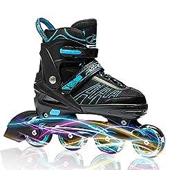 ITurnGlow Adjustable Inline Skates for K...