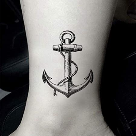 tzxdbh Anchor Ship Tattoo Sticker Impermeable Adulto Hombres ...