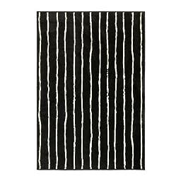 Ikea Rug, low pile, black/white 4 \' 4 \