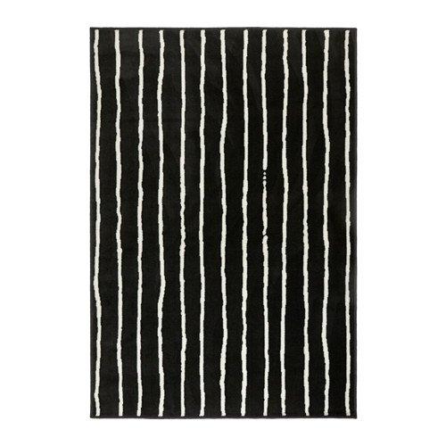 Ikea Rug, low pile, black/white 4 ' 4 x6 ' 5  1228.8226.1834